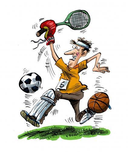 Спорт карикатура